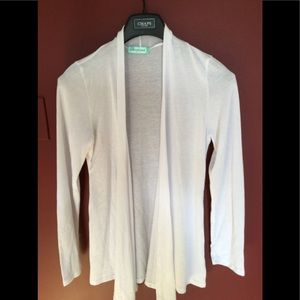 Chris and Carol white sweater size lg